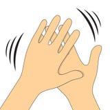 Symbole d'applaudissement de mains Dirigez la vidéo d'icônes, les apps mobiles, les sites Web et les projets d'impression Photographie stock libre de droits