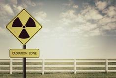 Symbole d'avertissement de rayonnement Image stock