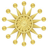 Symbole d'or d'étoile d'isolement sur le fond blanc Photographie stock libre de droits