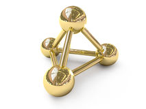 Symbole d'or de connexion Images libres de droits