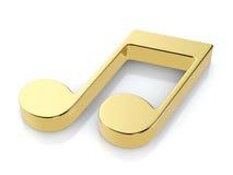Symbole d'or de note de musique Photos stock