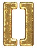 symbole d'or de parenthèse de fonte Images libres de droits