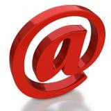 Symbole d'email avec la réflexion sur le fond blanc Images libres de droits