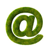 Symbole d'email d'herbe Photographie stock libre de droits