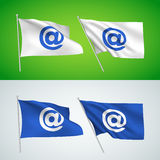Symbole d'email - drapeaux de vecteur Image libre de droits