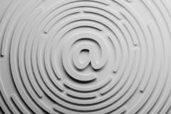 Symbole d'email Illustration de concept de correspondance de transmission de messages illustration de vecteur