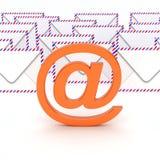 Symbole d'email qui enveloppe en fonction en arrière Photographie stock libre de droits