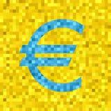 Symbole d'euro de vecteur de pixel Photographie stock