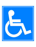 Symbole d'handicap Photo libre de droits