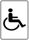 Symbole d'handicap Image stock
