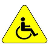 symbole d'handicap Photos stock