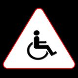 symbole d'handicap Photo stock