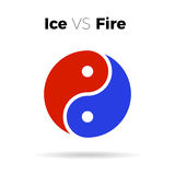 Symbole d'harmonie de vecteur d'icône de yang de Yin Photo libre de droits