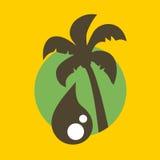 Symbole d'huile de palme illustration libre de droits