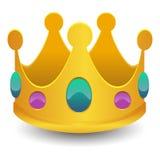 Symbole d'icône de causerie d'effet de l'art 3D du Roi Crown Emoji Vector illustration libre de droits