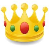 Symbole d'icône de causerie d'effet de l'art 3D du Roi Crown Emoji Vector illustration de vecteur