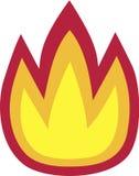 Symbole d'icône de flamme du feu illustration libre de droits