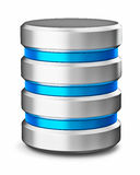Symbole d'icône de base de données de stockage de données de lecteur de disque dur Photos stock