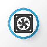 Symbole d'icône de fan d'unité centrale de traitement Élément de la meilleure qualité de ventilation d'ordinateur de qualité dans Images stock
