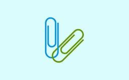 Symbole d'icône Placez l'isolement coloré de trombones Illustration élégante de vecteur pour le web design Images libres de droits