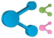 Symbole 3D, illustration de part de vecteur Photos libres de droits