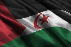 Symbole d'illustration du drapeau 3D de la Sahara occidental Photo libre de droits