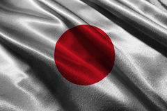 Symbole d'illustration du drapeau 3D du Japon , Symbole d'illustration de drapeau national du Japon Images stock