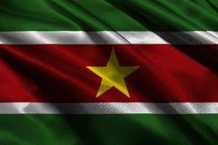 Symbole d'illustration du drapeau 3D du Surinam Drapeau du Surinam Image libre de droits