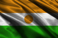 Symbole d'illustration du drapeau national 3D du Niger Niger Flag Photographie stock