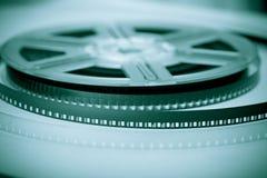 Symbole d'industrie cinématographique - bobine de film Photographie stock