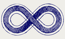 Symbole d'infini Image stock