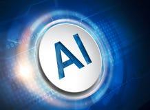 Symbole d'intelligence artificielle illustration libre de droits