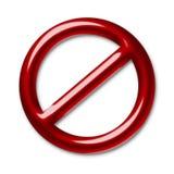 Symbole d'interdiction Photo stock