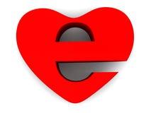 Symbole d'Internet comme coeur Images stock