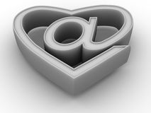 Symbole d'Internet comme coeur Photo stock