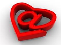 Symbole d'Internet comme coeur Photo stock