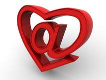 Symbole d'Internet comme coeur Photo libre de droits
