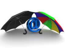 Symbole d'Internet. parapluie Photo stock