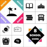 Symbole d'ordinateur d'île Illustration de Vecteur