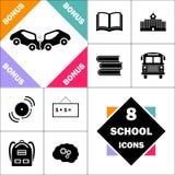 Symbole d'ordinateur d'accident illustration stock