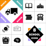 Symbole d'ordinateur de camion illustration libre de droits