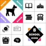 Symbole d'ordinateur de chien Images stock