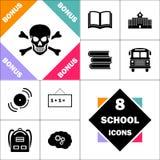 Symbole d'ordinateur de crâne Images stock
