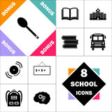 Symbole d'ordinateur de cuillère Photographie stock
