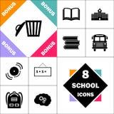 Symbole d'ordinateur de déchets Images stock