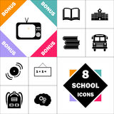 Symbole d'ordinateur de TV Photos libres de droits