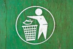 Symbole d'un vidage mémoire d'ordures. Images libres de droits