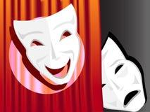 Symbole d'une comédie et d'une tragédie Image libre de droits
