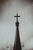 Symbole d'une croix d'église Symbole de religion de christianisme Images libres de droits