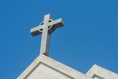 Symbole d'une croix d'église Symbole de religion de christianisme Photographie stock
